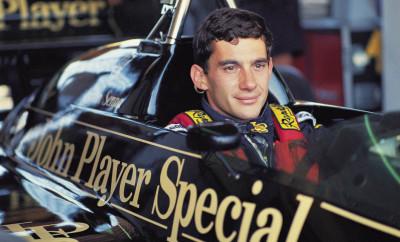 Ayrton Senna no cockpit de seu Lotus, durante o GP do Brasil de F1, no AutÛdromo de Jacarepagu·.