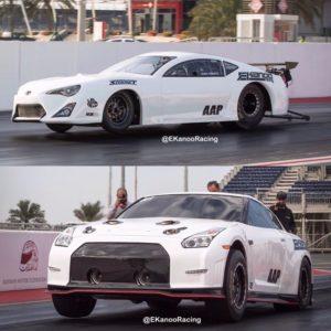 Toyota GT86 y Nissan GTR de Ekanoo Racing.