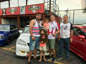 Junto a su familia en el recién pasado Honda Day.