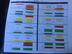 Calendario oficial impreso que nos entregó el Licenciado Oswaldo Martínez, con las fechas de Todo Motor agendadas.