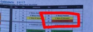 Claramente se identifica el 30 de julio como la 5a fecha de Todo Motor.