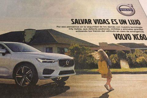 """""""Salvar vidas es un lujo"""", dijo Volvo en una campaña publicitaria"""
